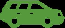 Green estate car shape 2